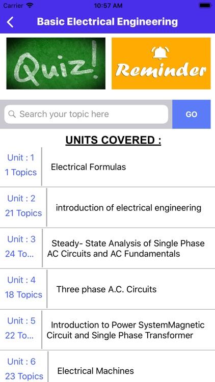Electrical Engineering App
