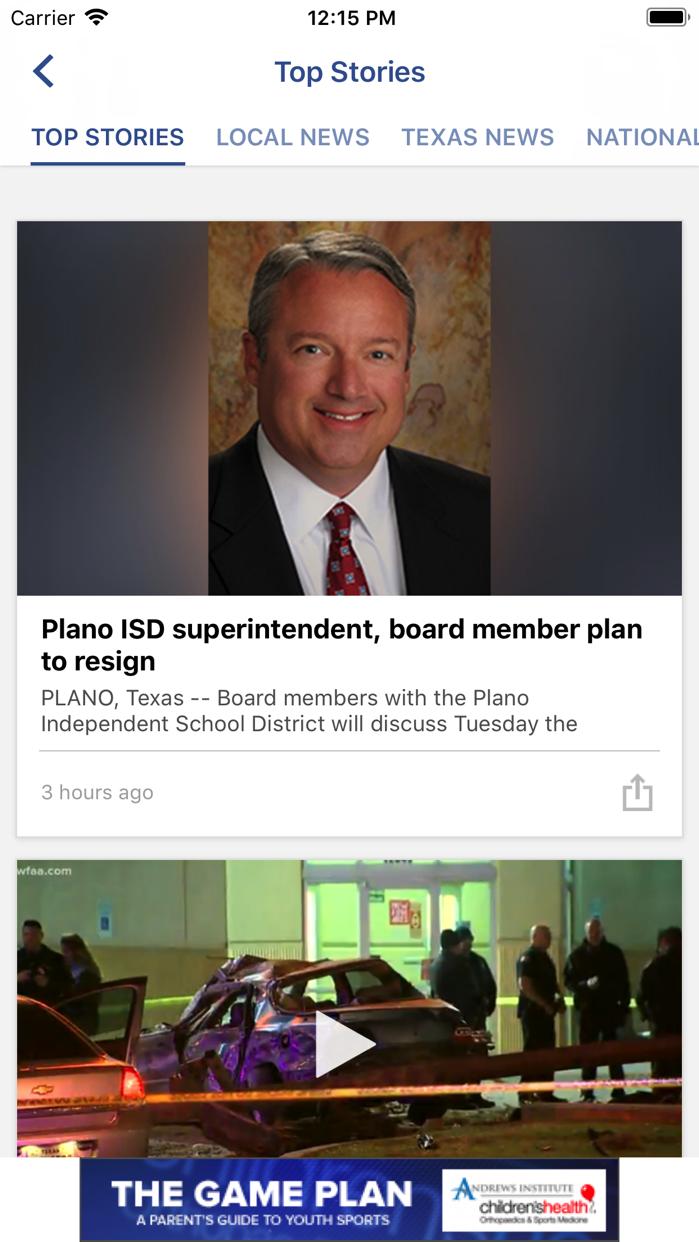 WFAA-North Texas News, Weather Screenshot