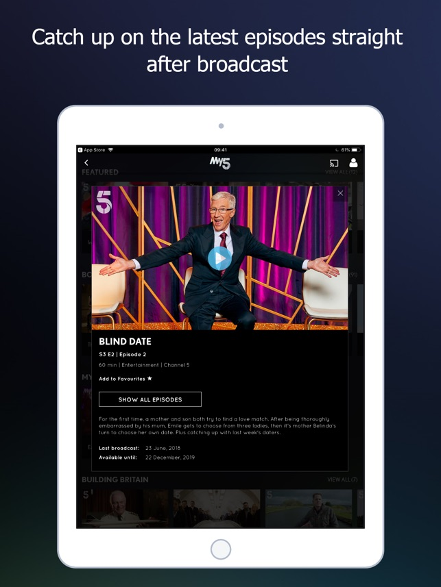 my5 channel 5 on the app store