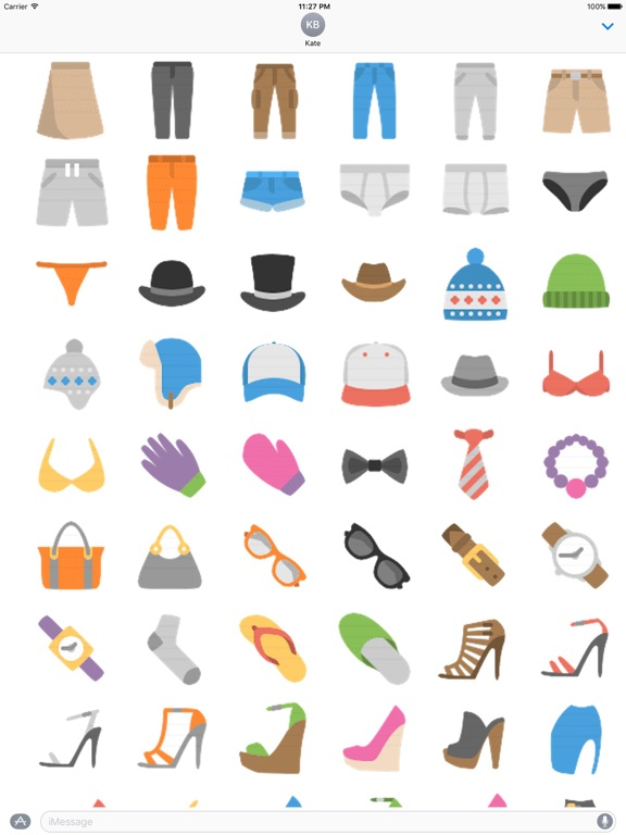Clothes And Shoes Icon Sticker screenshot 11