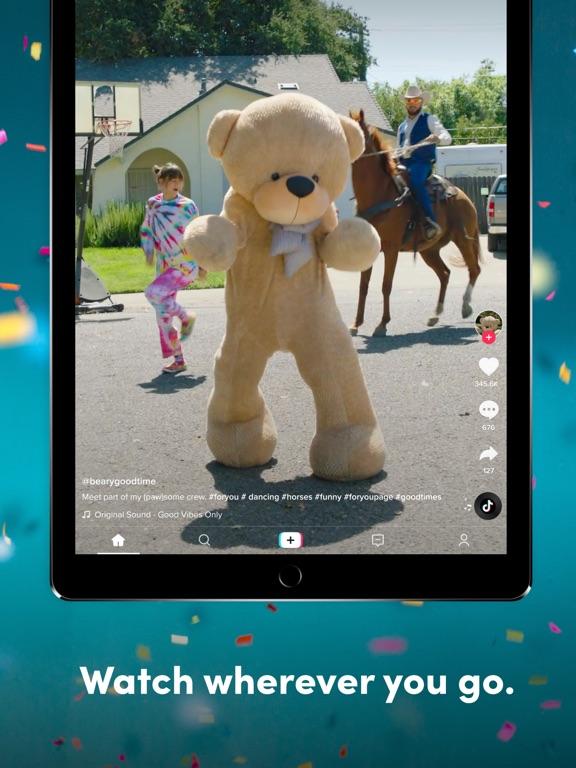 TikTok: Video's & Muziek iPad app afbeelding 1
