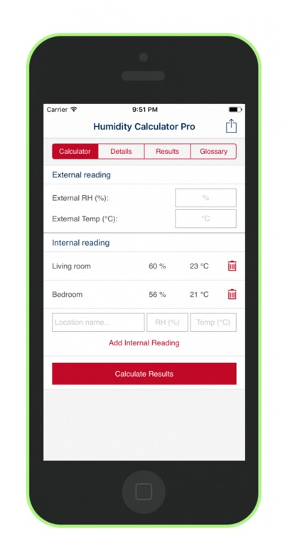 Humidity Calculator (Pro) screenshot-0