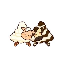Cute Sheep Cream Stickers