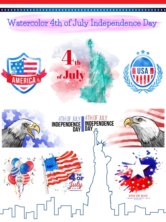 4th of July - Watercolor Pack screenshot 6
