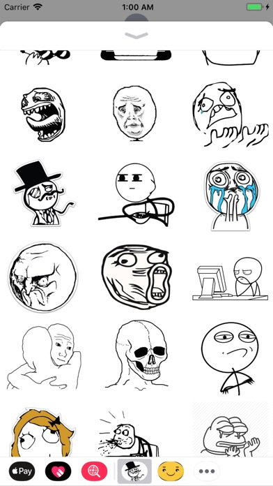 download Rage face troll stickers apps 1