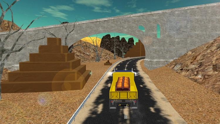 Cargo Truck Drive-Desert Truck Simulator 3D screenshot-4