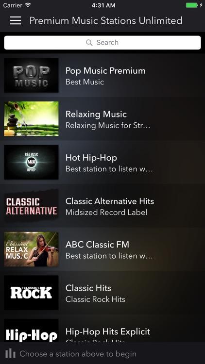 Premium Music Stations - Unlimited screenshot-3