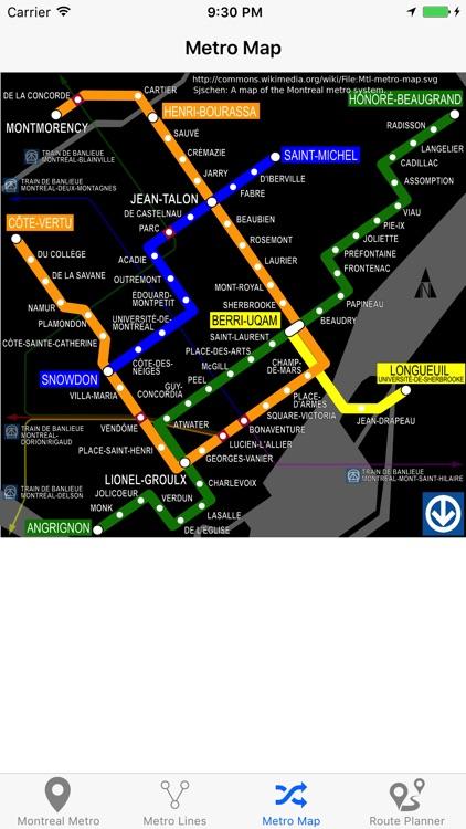 Montreal Metro & Subway screenshot-4