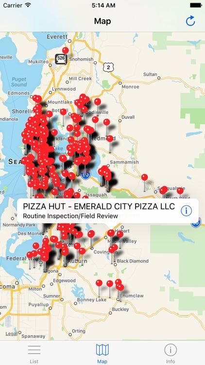 King County Food Inspections - Washington Standard