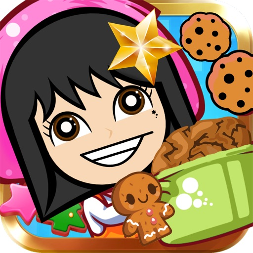 Cute cookie maker icon