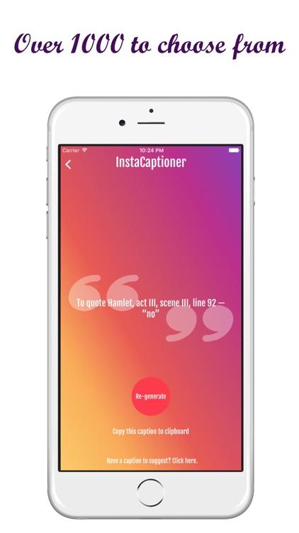 InstaCaptioner   1000+ Captions