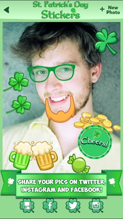 St. Patrick's Day Stickers: Holiday Sticker Photo screenshot-4