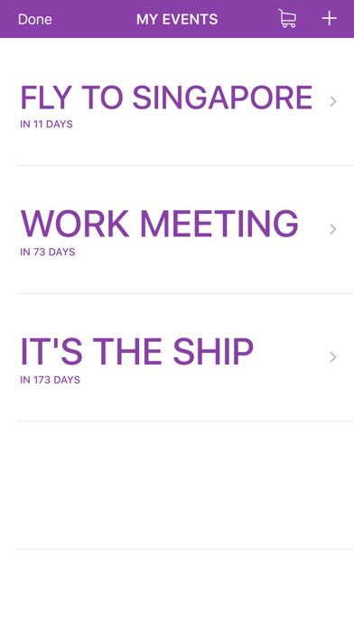 Countdown To Event screenshot three