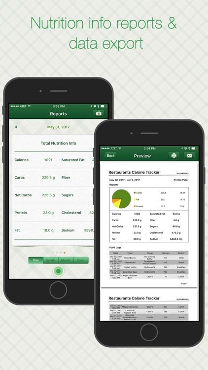 Restaurant Calorie Tracker - Diet & Weight Control screenshot-4