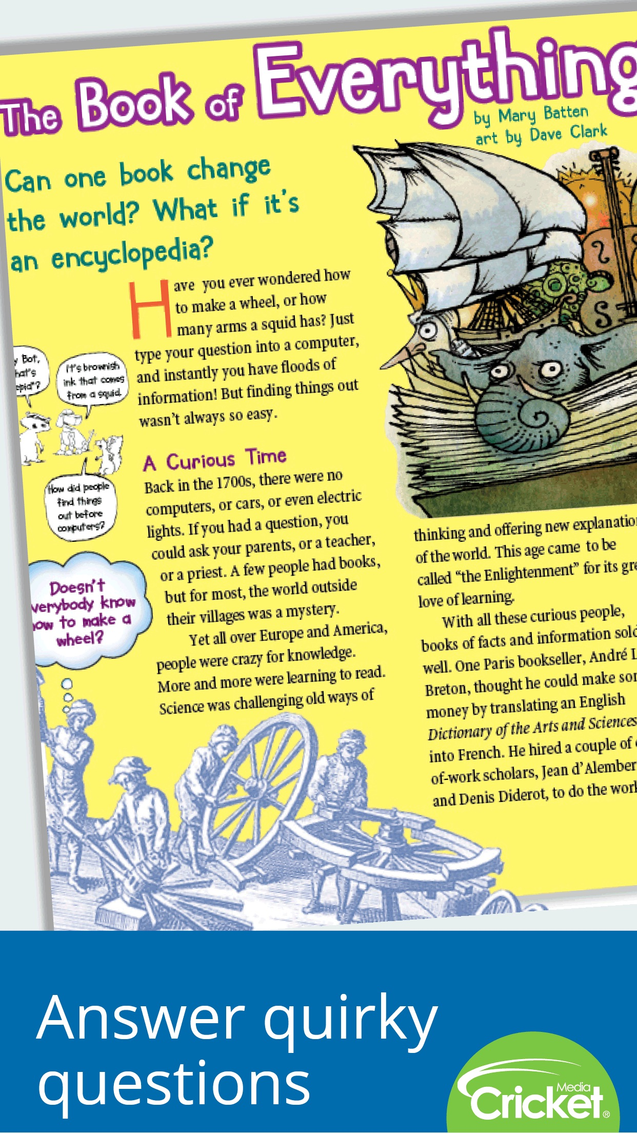 Ask Magazine: Science and arts for curious kids Screenshot