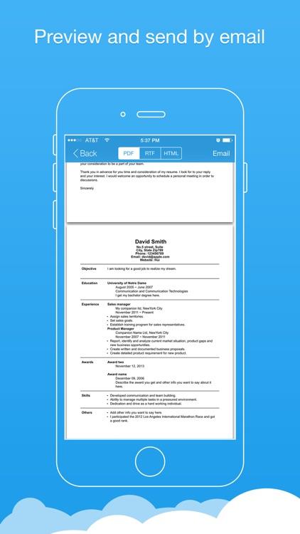Resume Producer Pro - Resumes Builder and Designer screenshot-3