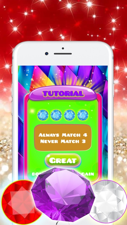 Gems Jewels Match 4 Puzzle Game for Boys & Girls screenshot-3