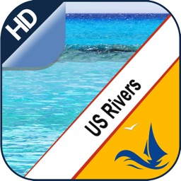 US Rivers GPS offline nautical chart for boaters