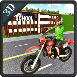 Kids School Time Bike Rider – Riding Game