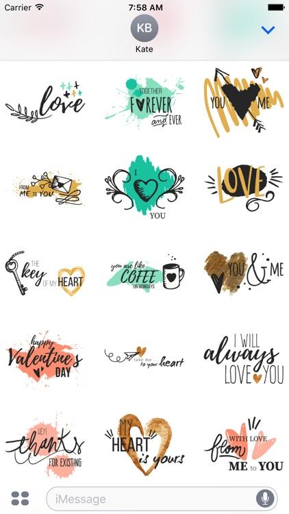 Valentine's Day & Love Stickers screenshot-4