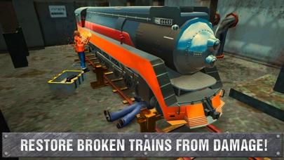 Railway Train Mechanic Workshop Sim screenshot four