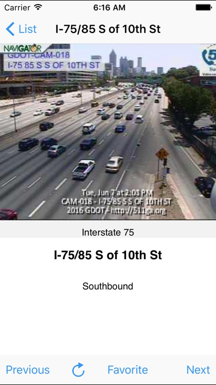 Atlanta Traffic Cam