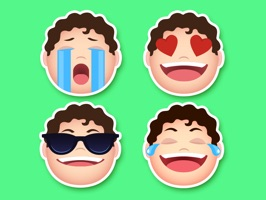 Face Stickers App -  Emoji Transformation pack comes with more than 30 human face emotions of a cute fat guy