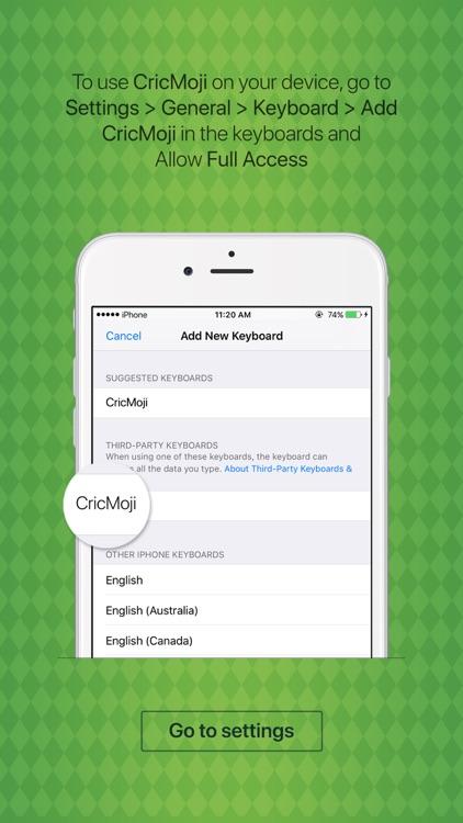 CricMoji - cricket emoji & stickers keyboard app screenshot-3