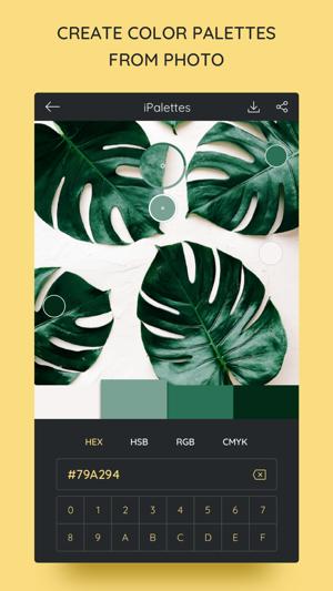 iPalettes - Color palettes Screenshot