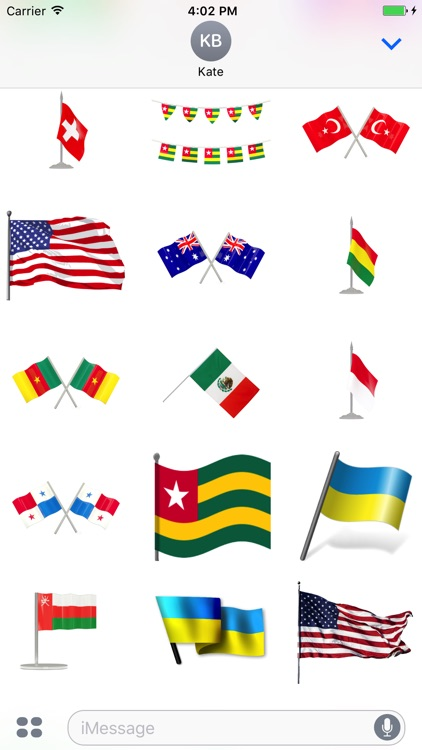 Flags Stickers Pack
