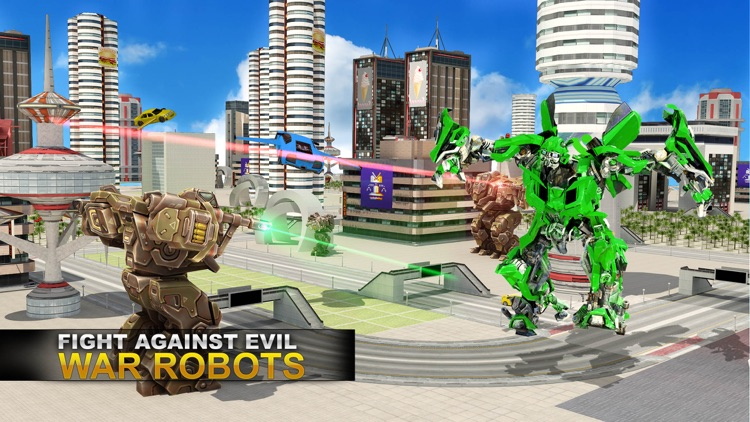 Real Robot Fighting VS Flying Car Games screenshot-1