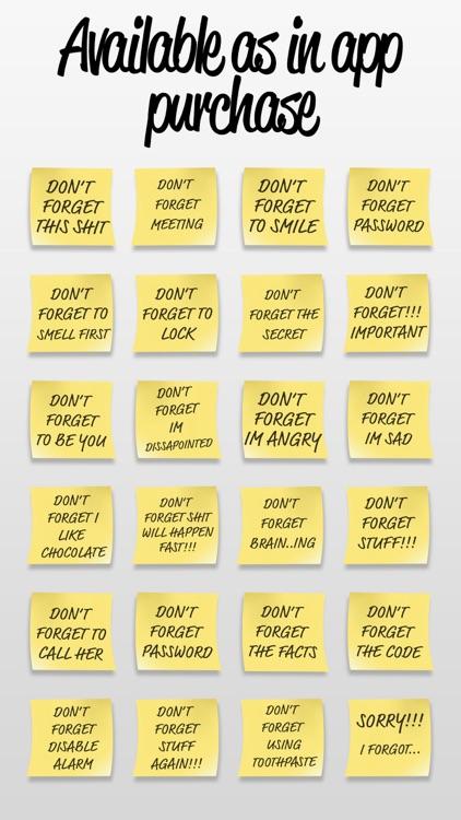 Post it Stickers Forget screenshot-4