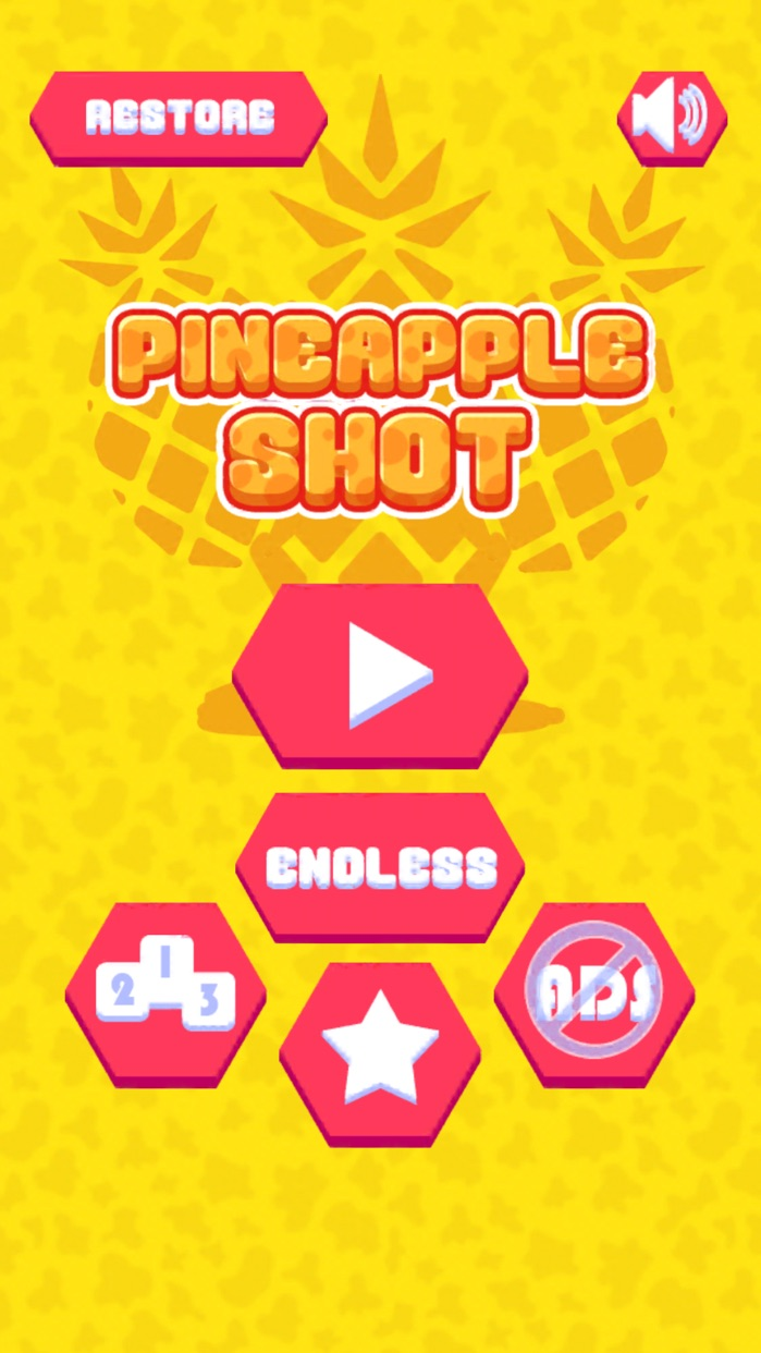 Pineapple Shot -  Endless Flicky Challenge Screenshot