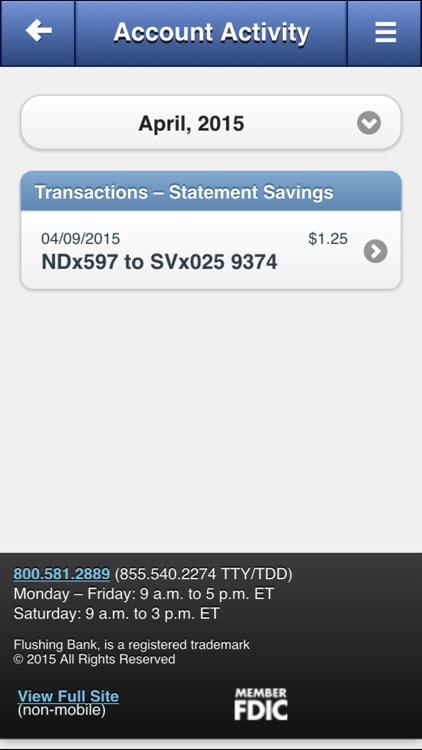 Flushing Bank Mobile Banking screenshot-4