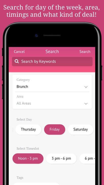 Dubai Deals, 2for1 Coupons for Restaurants, Brunch screenshot-4