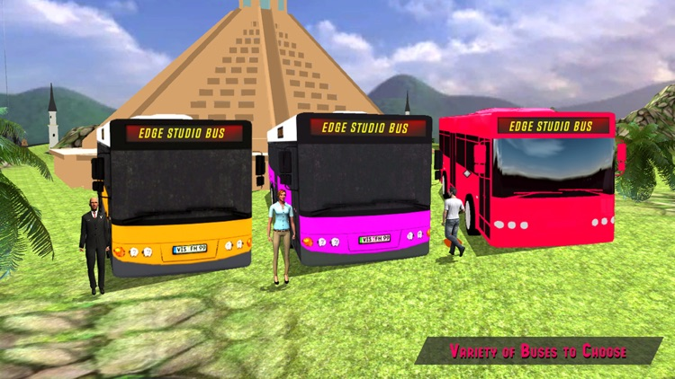 Elevated Bus Parking : Hill Station Bus Drive Game screenshot-1