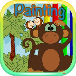 Monkey Colouring Game Book