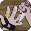 疯狂海盗切手指 - 加勒比跳舞的刀线