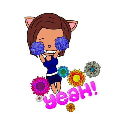 Cute Kelly - Animated stickers stickers by Poedil