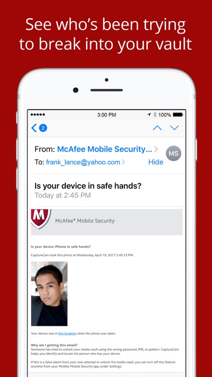 McAfee Mobile Security - Vault and Contacts Backup screenshot-3