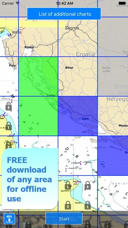 Aqua Map: Croatia  - GPS Nautical Charts screenshot-4