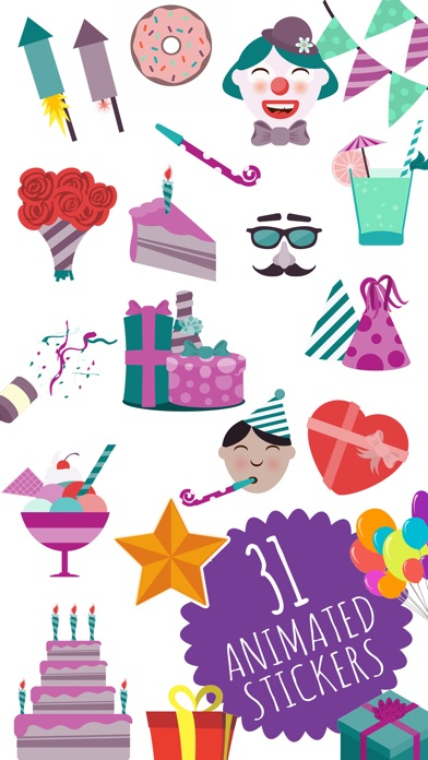 Animated Birthday Stickers And Emoji App Image