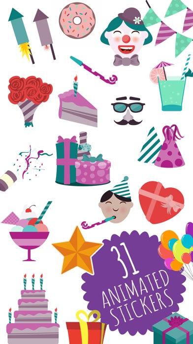 Animated Birthday Stickers And Emoji App Image