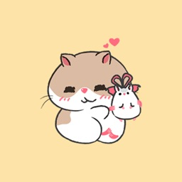 Lovely Hamster Friends - Animated GIF Stickers