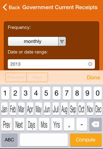 Wolfram US Economic Indicators Reference App - náhled
