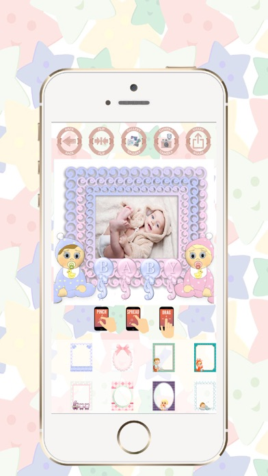 Baby photo frames edit and create beautiful cards screenshot two