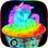 Glowing Snow Cone Rainbow Maker DIY Summer Dessert