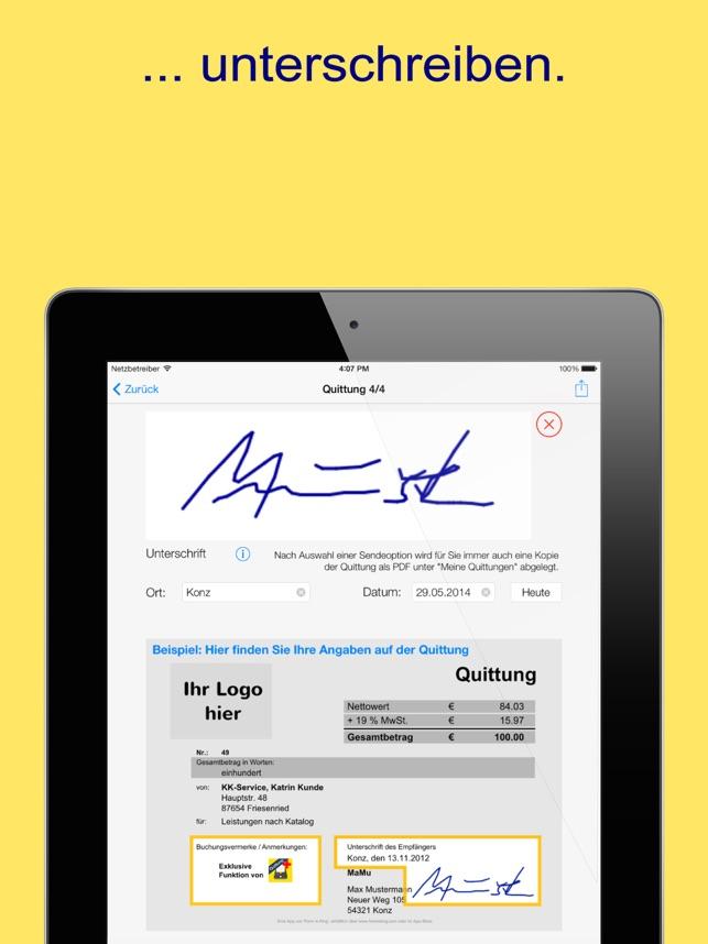 Quittung Lite Der Quittungsblock Im App Store