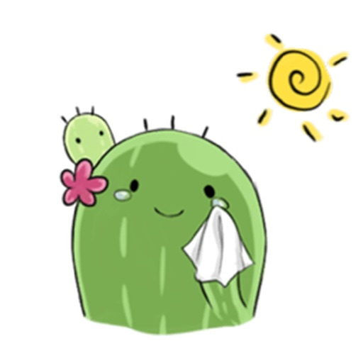 Cute cactus with pink flower emoji sticker by nguyen hoang cute cactus with pink flower emoji sticker mightylinksfo