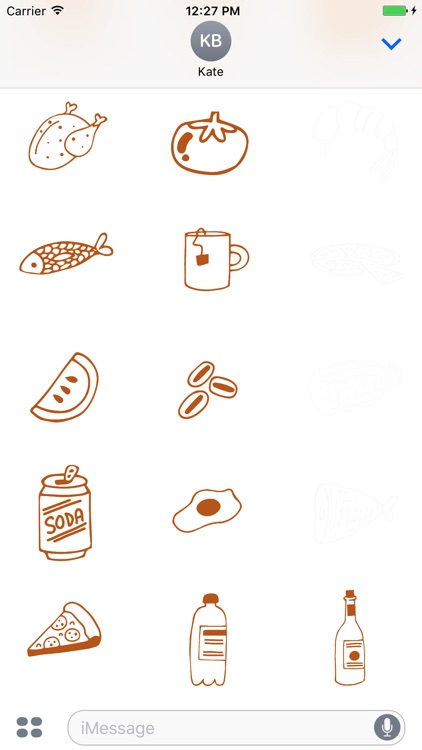 Animated Cute Food Stickers screenshot-3